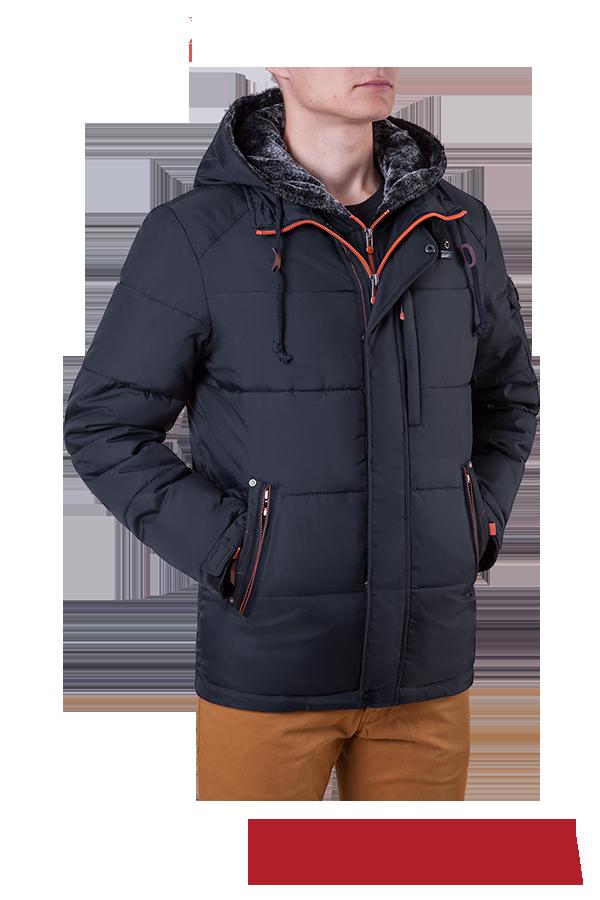 Мужская куртка зимняя графит MANIKANA (р. 46-56) арт. 17193 С