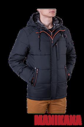 Мужская куртка зимняя графит MANIKANA (р. 46-56) арт. 17193 С, фото 2