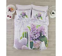 Постельное белье Cotton Box 3D LILY LILA  двуспальный евро комплект