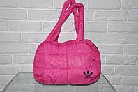 Спортивная сумка Adidas модель Пуховик. (розовый+черный). Лучшие цены!!!, фото 1