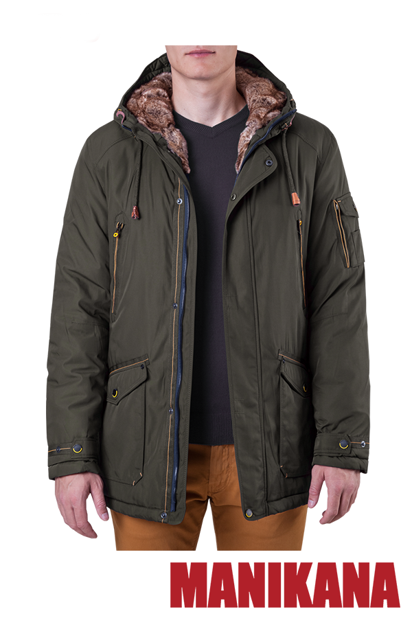 Зимняя мужская куртка хаки MANIKANA (р. 48-56) арт. 17183 А