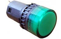 Сигнальная арматура зеленая  АD16-16DS 24В АС/DC