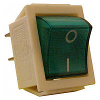 Переключатель 1* (зелен.подсвет.) KCD7-KED