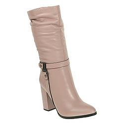 Полусапоги женские Sufinna (роскошный оттенок, стильные, качественные, удобный каблук)