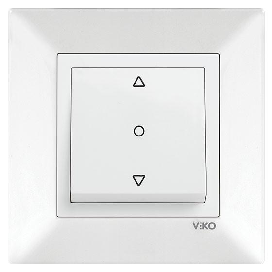 Кнопка управления жалюзи VIKO Meridian 90970172-WH белая