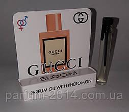 Жіночі масляні духи з феромонами Гуччі блум Gucci Bloom 5 ml (ліц) пробник аромат запах парфум тестер