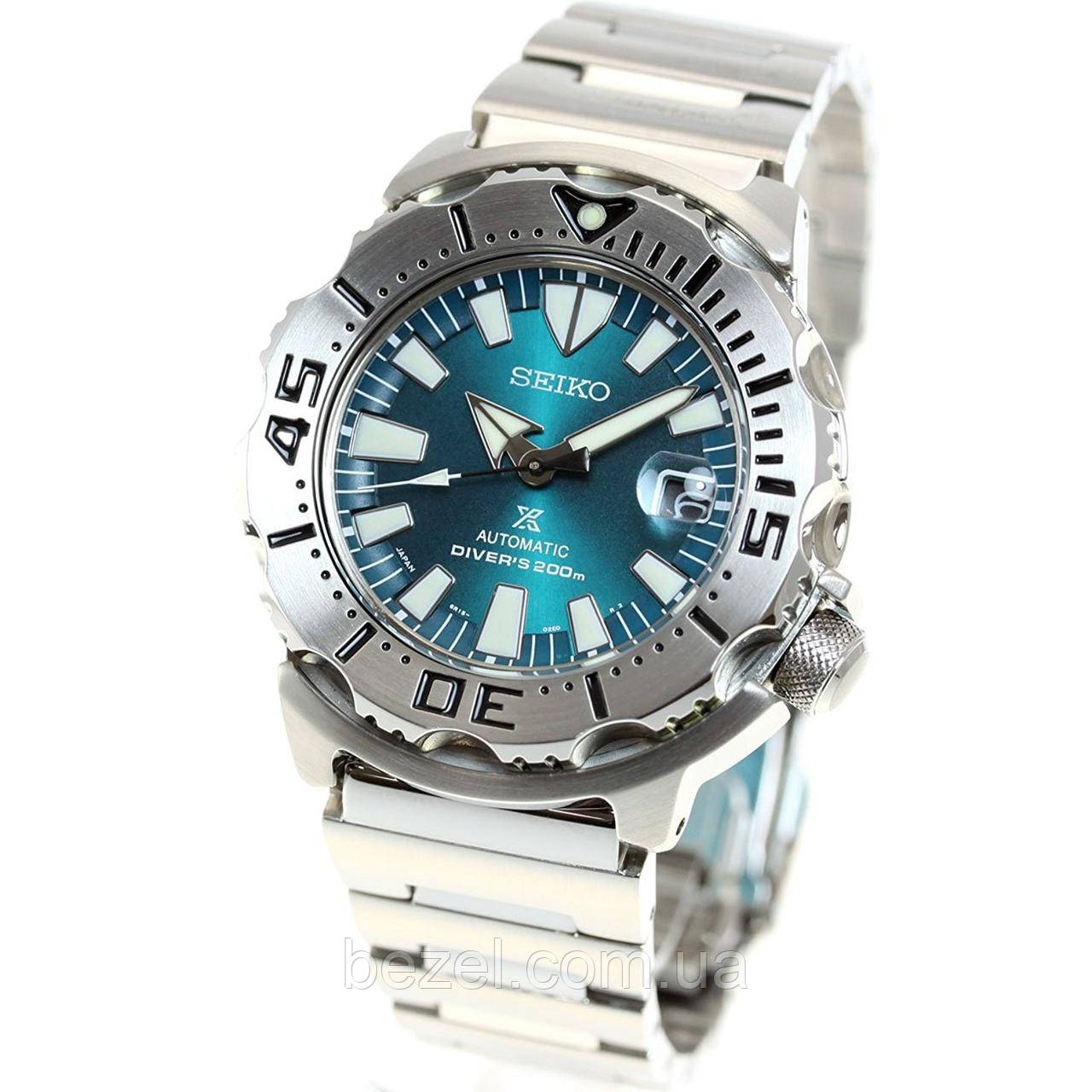 Мужские часы Seiko MONSTER Green Automatic 6R15 Limited SZSC005 JAPAN