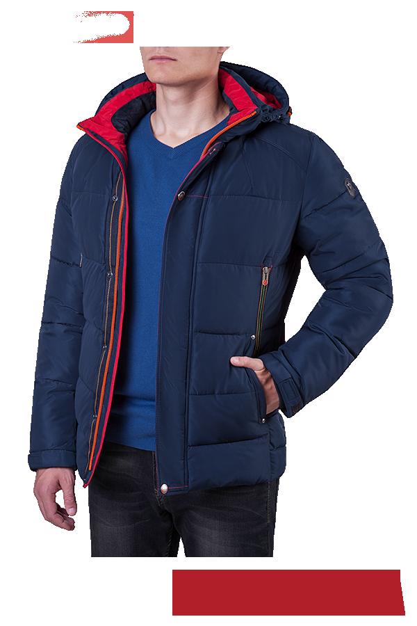 153b997c63f Мужская темно-синяя зимняя куртка с капюшоном MANIKANA (р. 46-56 ...