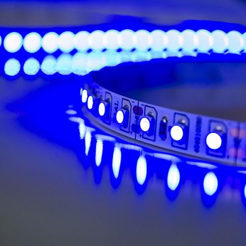 Светодиодная лента SMD 3528-60 led, синяя герметичная