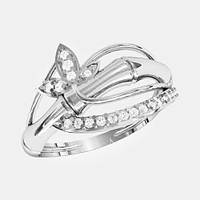 Кольцо  женское серебряное Бамбук КЕ-1521