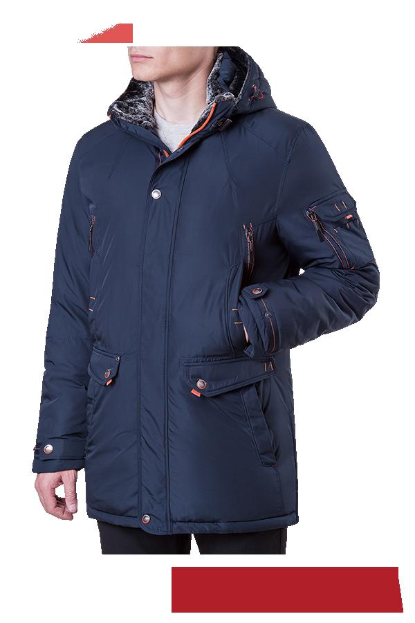 Зимняя мужская темно-синяя куртка MANIKANA (р. 48-56) арт. 17185 F