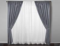 Готовые серые шторы в гостинную,спальню , фото 1
