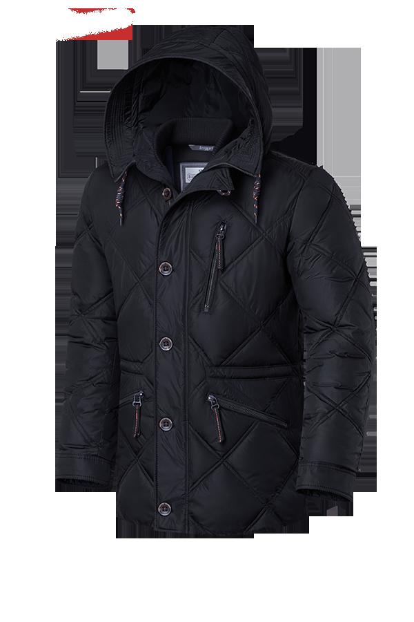 Мужская черная зимняя куртка Braggart (р. 48-58) арт. 17921 D