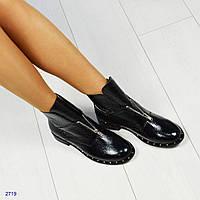 0f9966c60 Женские демисезонные черные ботинки,копия