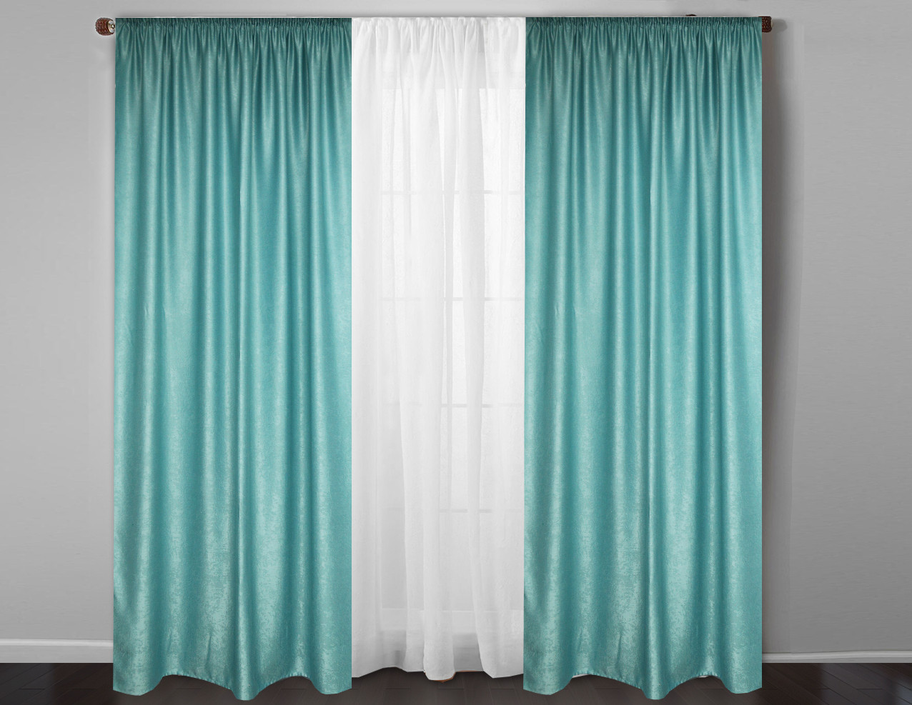 Готовые бирюзовые шторы в гостинную,спальню