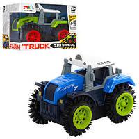 Трактор M31-1 перевертиш, 2 кольори, в коробці, 11-8-8 см.