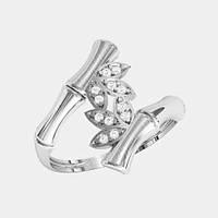 Кольцо  женское серебряное Бамбук КЕ-1522