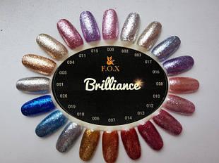 Гель-лаки F.O.X Brilliance 6 мл.