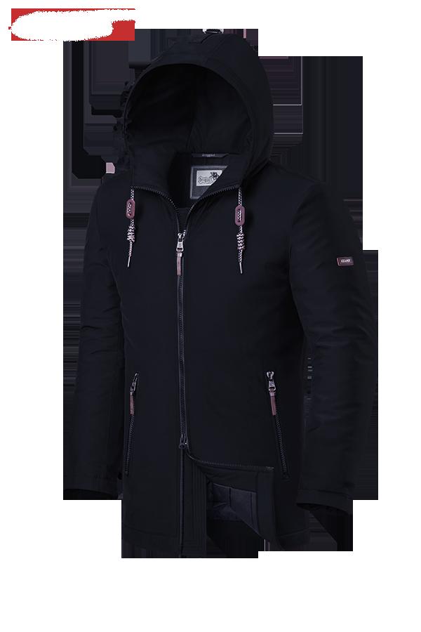Мужская черная зимняя куртка Braggart Dress Code (р. 46-56) арт. 2066 D