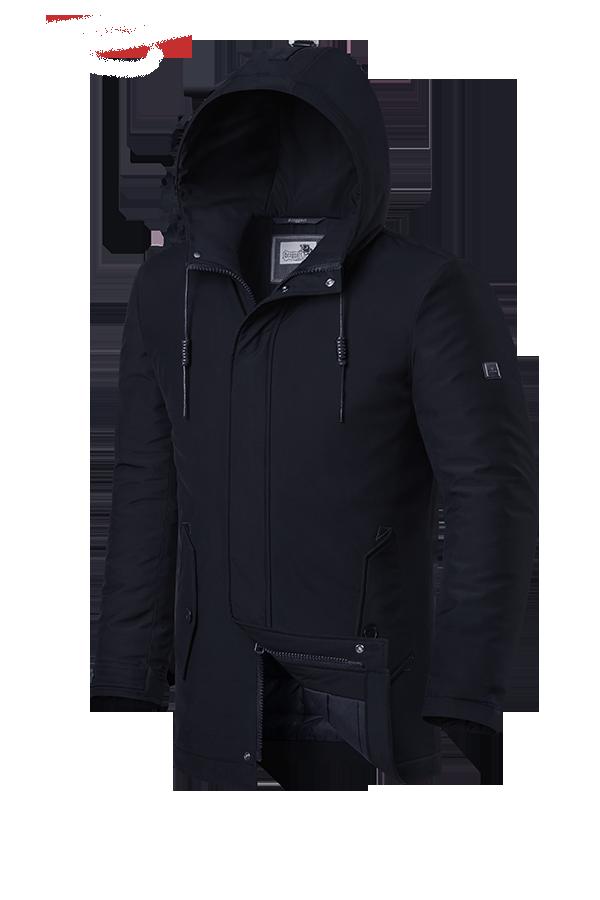 """Мужская черная зимняя куртка Braggart """"Dress Code"""" (р. 46-56) арт. 3780 D"""