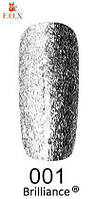 Гель-лак F.O.X. gold Brilliance № 001, серебро