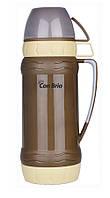 Термос стеклянная колба Con Brio 0,6 л.СВ353 brown