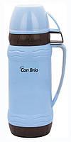 Термос стеклянная колба Con Brio 0,6 л.СВ353 blue