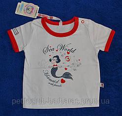 Детская летняя футболка для девочки Русалочка (Barbaras, Польша)