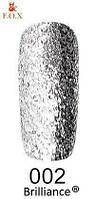 Гель-лак F.O.X. gold Brilliance № 002, серебро