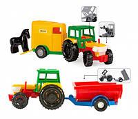 Трактор Wader з причепом в коробці (39009)