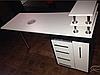 """Манікюрний стіл з УФ лампою бактерицидної, ящиком """"карго"""" і поличкою для лаків, фото 5"""
