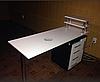 """Манікюрний стіл з УФ лампою бактерицидної, ящиком """"карго"""" і поличкою для лаків, фото 6"""
