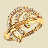 Кольцо  женское серебряное Бамбук КЕ-1524, фото 2