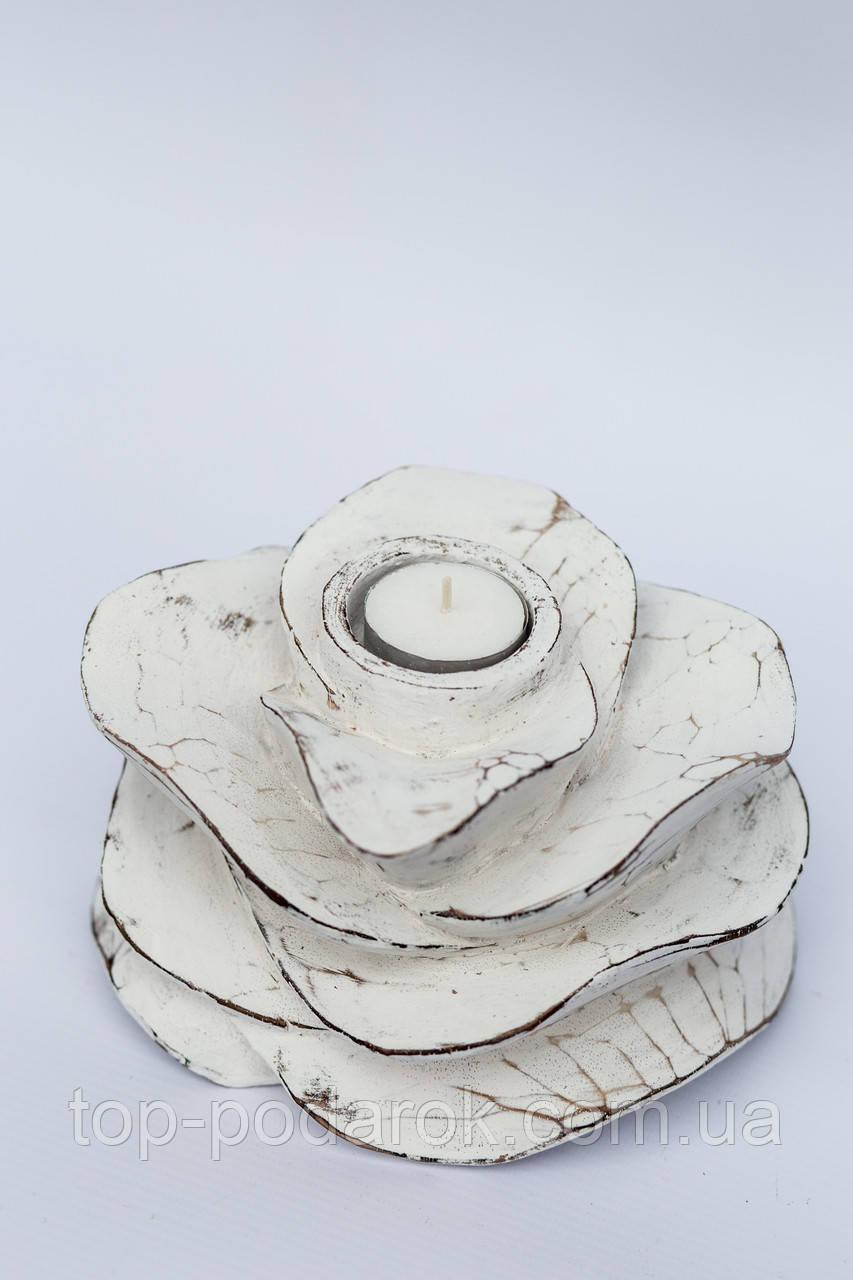 Декоративная роза/ роза-подсвечник ,13*10 см