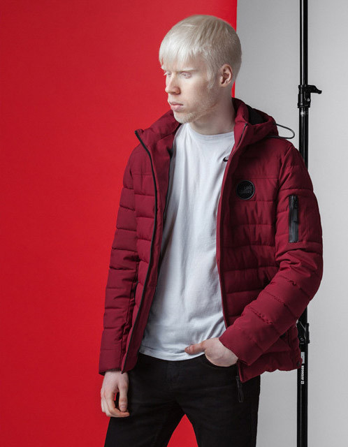Весенне-осенняя куртка мужская 4628 бордовая