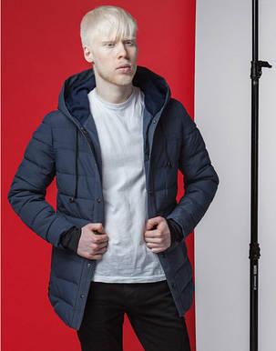 Мужская демисезонная куртка 4864 синяя, фото 2