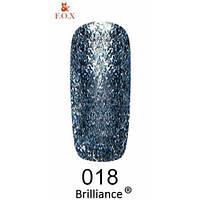 Гель-лак F.O.X. gold Brilliance № 0018, серебристо-голубой