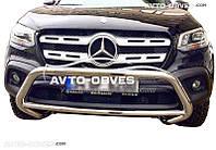 Кенгурятник без гриля Mercedes-Benz X class 2017 - ... (Тамсан)