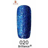 Гель-лак F. O. X. gold Brilliance № 0020, яскраво-синій