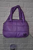 Спортивная сумка Adidas модель Пуховик. (сиреневый+серебро). Лучшие цены!!!, фото 1