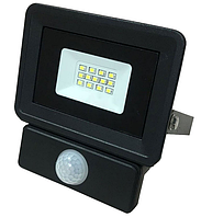 LED прожектор Premium 10W с датчиком движения 6500K