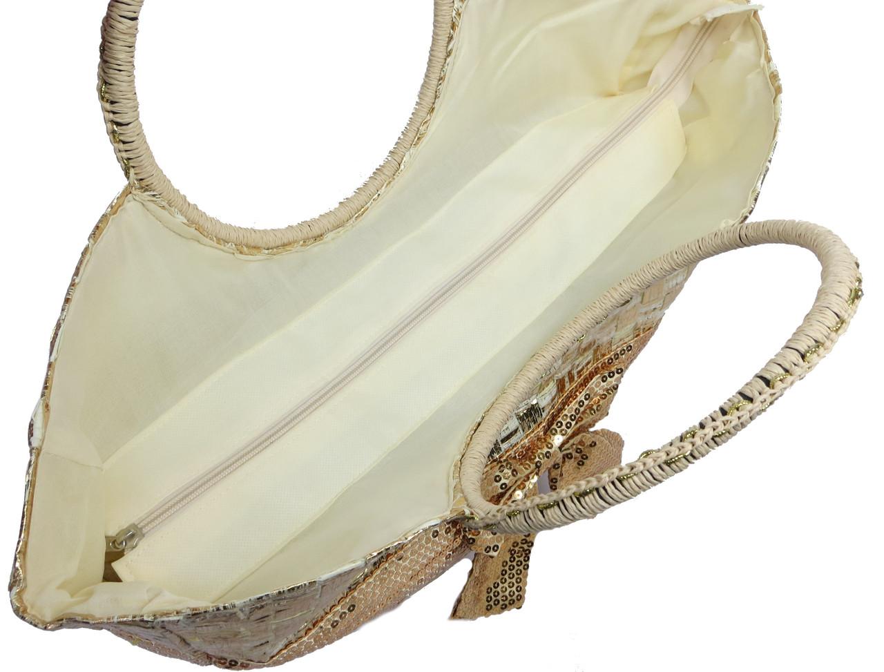 6a3f3ecd4bc5 Женская сумка соломенная Podium PC7167-1 natural gold , цена 325,60 грн.,  купить в Киеве — Prom.ua (ID#328089333)