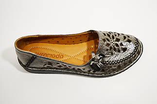 Балетки кожаные серебристые Euromoda 459, фото 2