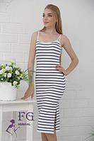 Облегающее летнее платье миди
