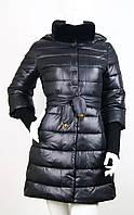 Пуховик женский черный с рукавом три четверти Covily 937, фото 1