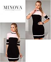 Стильное платье с высокой горловиной и укороченным рукавом ТМ Minova Новинка (42-46)