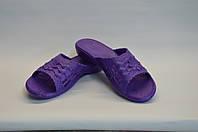 Шлепанцы плетение женские фиолетовые оптом Dreamstan, фото 1