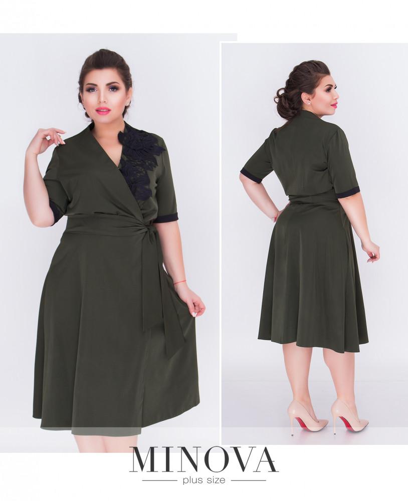 d9d48c95f1d Приталенное платье с расклешенной юбкой из костюмной ткани (размеры 50-56)  - Интернет