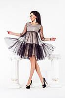 Платье с сеткой 32333