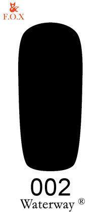 Гель-лак F.O.X. Waterway №002 6мл черный